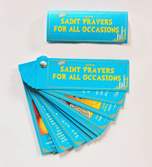 Saint Prayers for all Occasions Fan