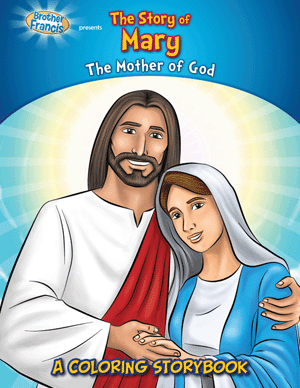 The Story of Mary coloring storybook
