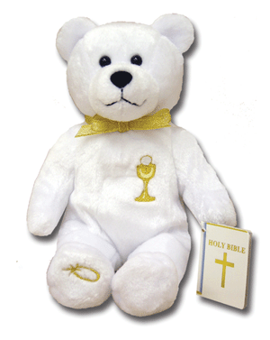 Holy Bears-First Communion, white