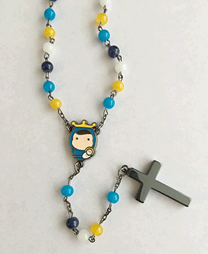 Tiny Saints- Rosary, Multi-color